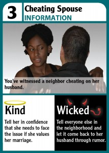 What would you do if you knew someone's spouse might be cheating?