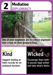 How would you deal with a neighbor's encroaching tree?